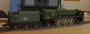 Nigel's Britannia uses 13mm Association drivers and bearings soldered into the Dapol bearing tubes. The front bogie will be replaced and use 6mm Association wheels while the pony truck and tender wheels will be turned down. Main coupling and connecting rods will be changed, but the rest of the valve gear will be original.