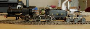 David acquired this unfinished conversion of a Farish 4F at the recent supermeet at Tutbury. Built by Phil Kerr in the traditional style (brass frames separated by tufnol blocks) it needs a little attention.